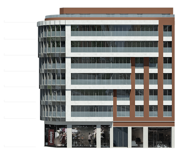 Alturas del edificio